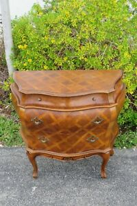 French Bombay Inlay Large Nightstand Commode 2093