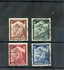 GERMANY Sc 448-51(MI 565-8)F-VF USED 1938 SAAR SET $21