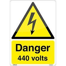 Pericolo 440 VOLT adesivo segno (A5 148 x 210mm)