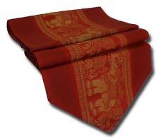 TS001 rot Tischläufer Tischdeko Tischdecke 200x30 cm Thai Silk Elefanten edel