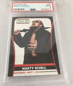 Marty Scurll 2018 All In Wrestling Rookie #30 Psa 9 Pop 4
