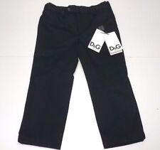 D&G New Boys Kids BLACK GABARDINE DRESS PANTS TROUSERS Sz: 6 RTL: $185 P847