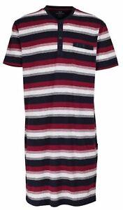 Götzburg Nachthemd Herren Sleepshirt Sleepwear kurzarm große Größen gestreift