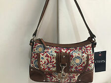 NEW! CHAPS RALPH LAUREN MALENA FLORAL TOP ZIP HOBO SHOULDER BAG PURSE SALE