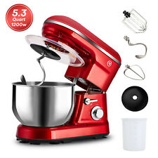 1200W Pro Electric Food Stand Mixer Tilt-Head Kitchen 5.3QT Stainless Steel Bowl