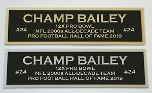 Champ Bailey nameplate for signed autographed jersey football helmet or photo