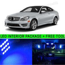 16PCS 10K Blue LED Light Interior Package Kit For 08-2013 Benz C300 C350 C250 PQ