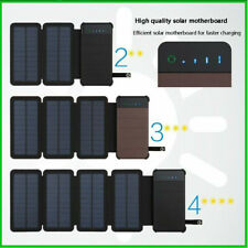 20000 mah Solar Power Bank Waterproof Fast Battery Charger External USB Cell DIY