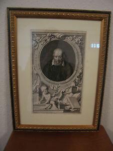 Antique 18th Century 1742 Houbraken Engraving of George Buchanan