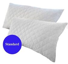 2x standard Size Quilted Pillow Protector poly Cotton Cover 48x74cm