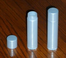 10 NEW Empty Light Silver LIP BALM Chapstick Tubes Containers - .15 oz / 5ml