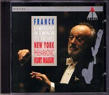 Kurt MASUR Signiert FRANCK Symphony d-moll Les Eolides CD New York Philharmonic