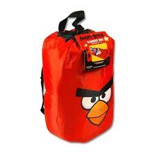 Rovio Angry Birds Kids Travel Camping Slumber Sleeping Bag w Sling Backpack NEW
