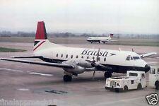 British Airways Hs 748 G-Azsu at Glasgow Airport 6 x 4 Print