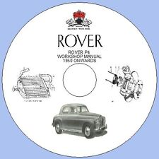 ROVER P4  WORKSHOP MANUAL 1950 ONWARDS