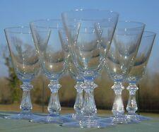 Val Saint Lambert - Service de 6 verres à vin rouge en cristal, modèle Crown