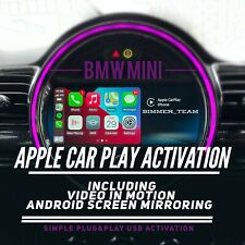BMW MINI Apple Car Play Lifetime Activation+ Android Mirroring + Video In Motion