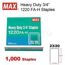 """MAX Heavy Duty Stapler 3/4"""" Staples 1220 FA-H (23/20) - 1,000 staples"""