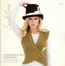 The Third Sublime Aran Hand Knit Book 615 Cashmere Merino Silk Aran Patterns