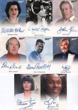 James Bond Archives 2014 Edition Autograph Card Lot 8 Cards