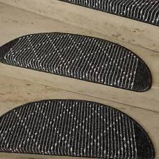 Treppenmatte Stufenmatte TIM KRETA anthrazit Form + Größe wählbar Metallwinkel !