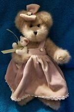 The Bearington Collection Mini And Mouse Collectible Teddy Bear #1160 Purple Bow