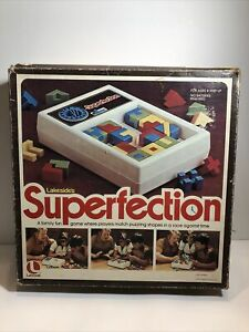 HTF VINTAGE 1975 LAKESIDE SUPERFECTION PUZZLE GAME, BOX ONLY