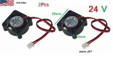 2Pcs 24V 2Pin 25mm 25x25x10mm 2.5cm 5 Blades Mini Small DC Brushless Cooling Fan