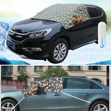 Half Car Front Windshield Camouflage Ice Snow Cover Block with Reflective Strip