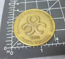 British Columbia Canada Centennial with Canada Brass collectors token, 1971