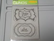 HERO ARTS CLINGS #CG351 JUST BECAUSE 6 REPOSITIONABLE RUBBER STAMPS NEW A1252