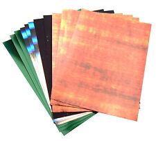 Pack 12 Scrapbooking tarjeta haciendo mixto A4 Tarjeta-Cambio De Color, holográficos, brillante