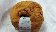 Katia Arte #17 Gold Mustard 100% Cotton Ribbon Yarn 50g