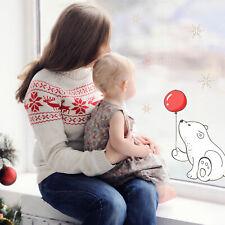 Polar with balloon window sticker | Christmas window stickers