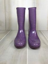 Authentic  Purple Raana Print Stripe UGG Rainboots Kids Size 3 D29
