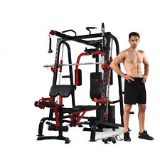 MAXAM® SMX-750 SMITH MACHINE CAGE HOME GYM CROSSOVER +140KG WEIGHTS