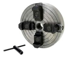 """4-Jaw x 6"""" Independent Wood Lathe Chuck with 3/4-16 Thread & Reversible Jaws"""