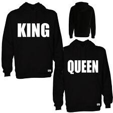 """2x EAKS® HOODY """"Motiv: 1x KING + 1x QUEEN"""" bl.#2 Partner Look Kapuzen Pullover"""