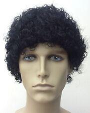 Men's Curly Black Wig (Short Curly), Fancy Dress Wig