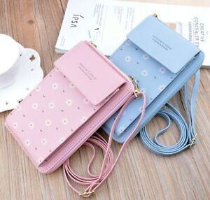 Women Long Phone Wallets Shoulder Bag Credit Card Holder Purse Zipper Clutch