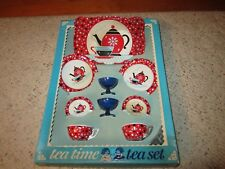 "Vintage Ohio Art Child's ""Coffee Time"" Toy Tea Set In Original Box!!!"