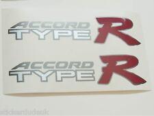 Honda ACCORD Type R OEM 2 x rouge panneau latéral autocollants stickers K20-voitures de lumière