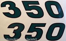 KAWASAKI S2 350 1971 1972 SIDE PANEL DECALS