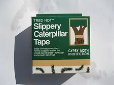 Gypsy Moth Caterpillar Tree Wrap Tape. Slippery barrier bands