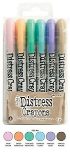 Ranger Tim Holtz Distress Crayons #5 Pastels Water Reactive Pigments