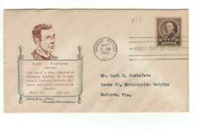 First day cover, Sc #873, Booker T Washington, Mellone 15B, Holland cachet, 1940