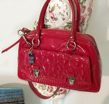 Coach Lipstick Red Liquid Gloss Quilted Poppy Crossbody Strap Bag Shoulder Purse