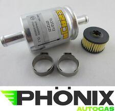 Autogas Filter-Set Valtek-Einsatz + Gasfilter 12mm-12mm + Normfest Schellen LPG