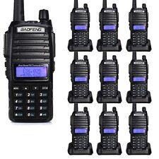 10PCS BAOFENG UV-82 Dual Band UHF/VHF 137-174/400-520MHz FM Radio + Earpiece US