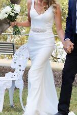 Gorgeous Ivory Crepe Wedding Dress